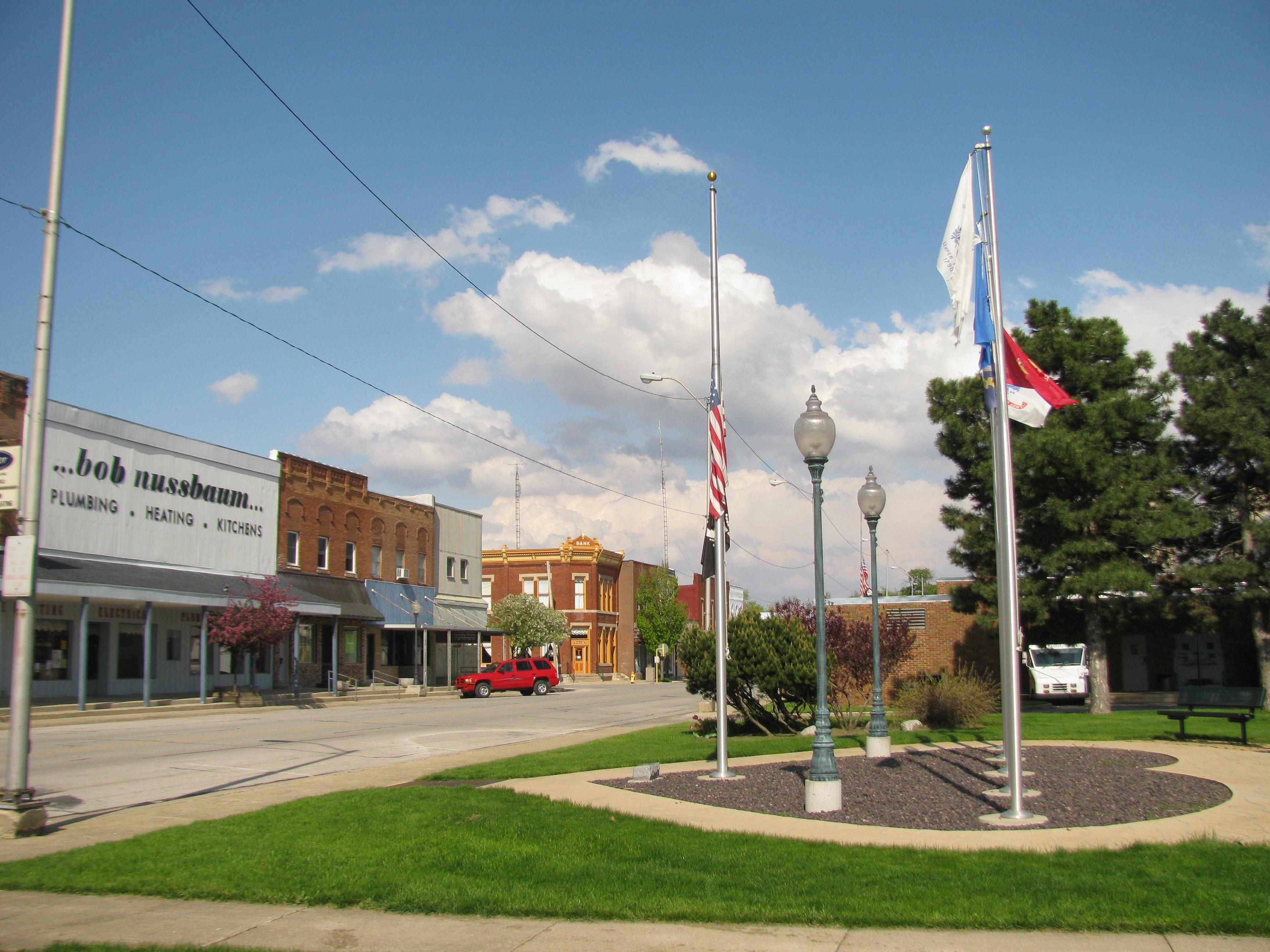 Downtown Fairbury Illinois Attractions