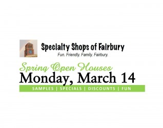 FAIRBURY, IL – Fairbury's Specialty Shops and the Spring Open Houses – our group of shops and businesses that comprise this assembly of goods and services that caters to a bevy of special interests as well as everyday fare, are preparing to welcome the 2016 Spring Season with an Open...
