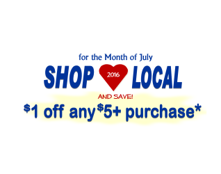 """FAIRBURY, IL – Fairbury's Specialty Shops Group has another way for their customers to enjoy their shopping escapades with a $1 off on any purchase of $5 or more. This offer extends through the whole month of July and you can cash in it by picking up a """"flyer"""" at..."""