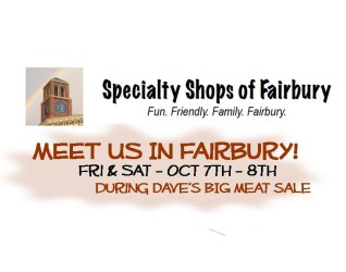The Specialty Shops of Fairbury – this innovative and hard working group of local Merchants are putting together another coordinated event to give their patrons the opportunity and incentive to shop comfortably in a friendly atmosphere that provides merchandise and services that service special interests as well as everyday fare....