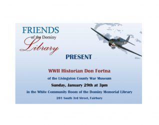 FRIENDS OF THE DOMINY LIBRARY – World War II certainly changed the world, as it was known at the time, and the historical accountability of the intricate involvement of America's military and domestic resources has long been a subject of intriguing interest to a multitude of military, history, and aviation...