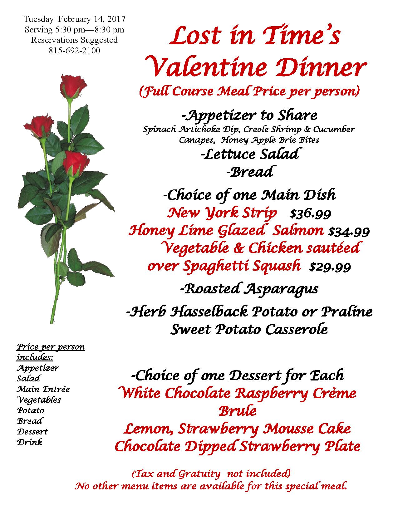 2 14 Valentine Dinner Fairbury Illinois Attractions