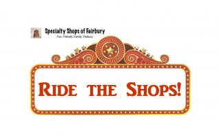 "RIDE THE SHOPS – SPECIALTY SHOPS OF FAIRBURY   The Fairbury Specialty Shops and Businesses have once again aligned themselves with a ""special event"" and are having a ""Ride the Shops"" extravaganza that coincides with the ever popular Fairbury Fair.  These enterprising businesses are very adept at organizing a coordinated..."
