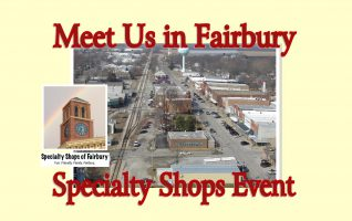 There are lots of interesting shops in Fairbury! Bring your coolers when you shop Dave's BIG Meat Sale because you won't want to miss shopping the Specialty Shops!