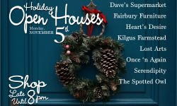 Specialty Shops Holiday Open Houses Postcard-revised