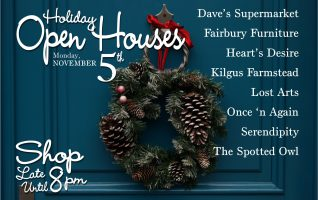 Skip the hustle and bustle and start your shopping early! Make Fairbury your first stop for holiday shopping. Shop The Specialty Shops Holiday Open Houses on Monday, November 5th. The shops will be open late until 8pm, so you can find thoughtful gifts for everyone on your list! From the...