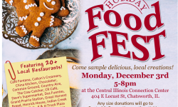Holiday Food Fest Facebook Post with Restaurants