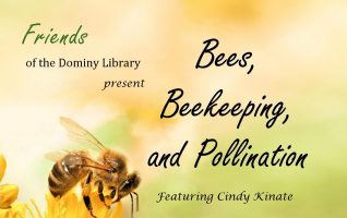 """Sweet, delicious, sticky honey; the gentle buzzing on a hot Summer day; the sharp, burning twinge from a sting – Ouch! Bees, we all have our own images of these important and busy flying insects. Join The Friends of the Dominy Library for """"Bees, Beekeeping, and Pollination"""" on Saturday, March..."""