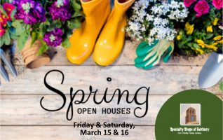 Congratulations on making it through the winter! Let's celebrate springtime with the season's latest trends, must have items and amazing deals during The Fairbury Specialty Shops Spring Open Houses! The Fairbury Specialty Shops is local shopping and services that covers everything from special interests to everyday needs, all in a...