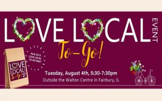 Love Local to Go is outside the Walton Centre in Fairbury on Tuesday from 5:30 – 7:30!  Your Love Local 'To-Go' Bag will be handed to you as you stay inside your vehicle (while supplies last) plus booths will be set up on the sidewalk. In Bag: Fun activities...